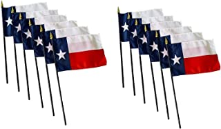 product image for Set of 12-4x6 E-Gloss Texas Stick Flag - Flag Only - Proudly Made in The USA