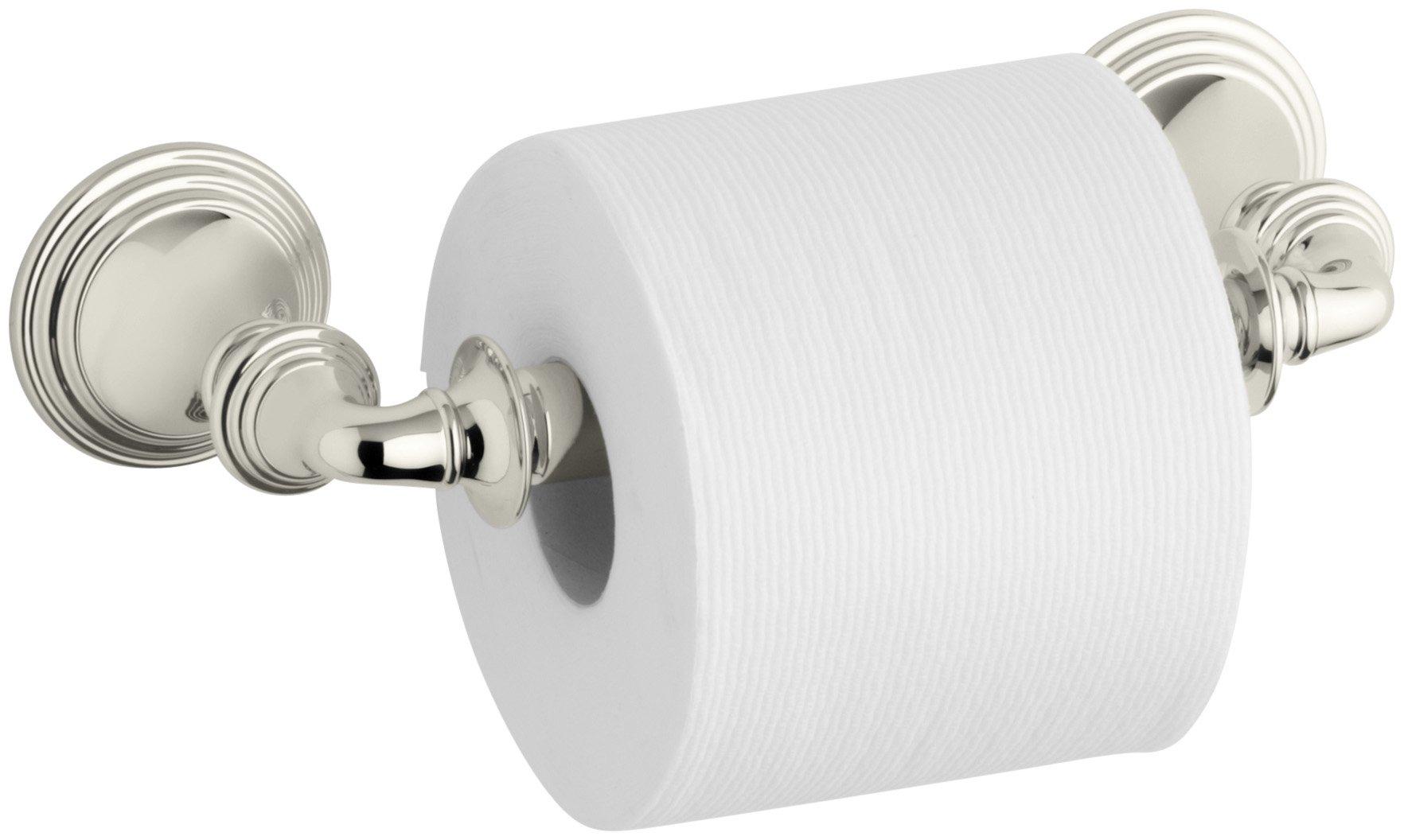 KOHLER K-10554-SN Devonshire Toilet Tissue Holder, Vibrant Polished Nickel