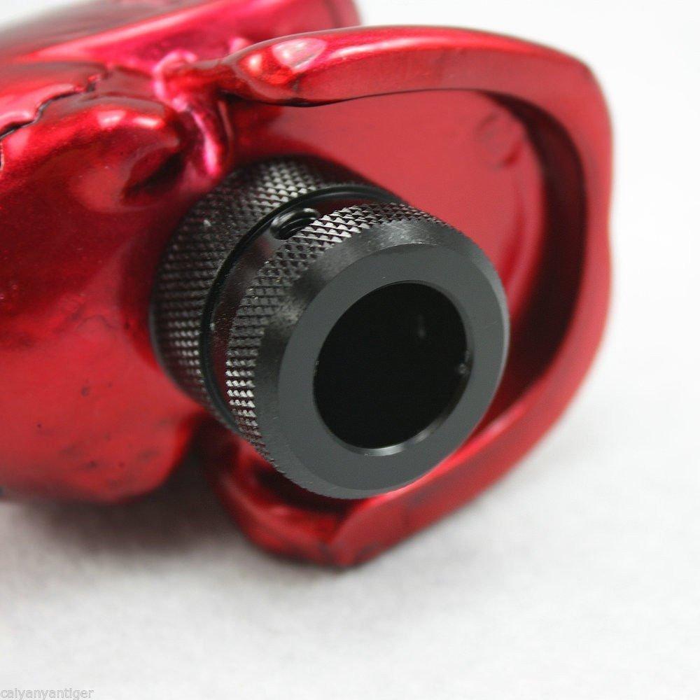 1/x Pomello del cambio manuale universale con teschio   Rosso