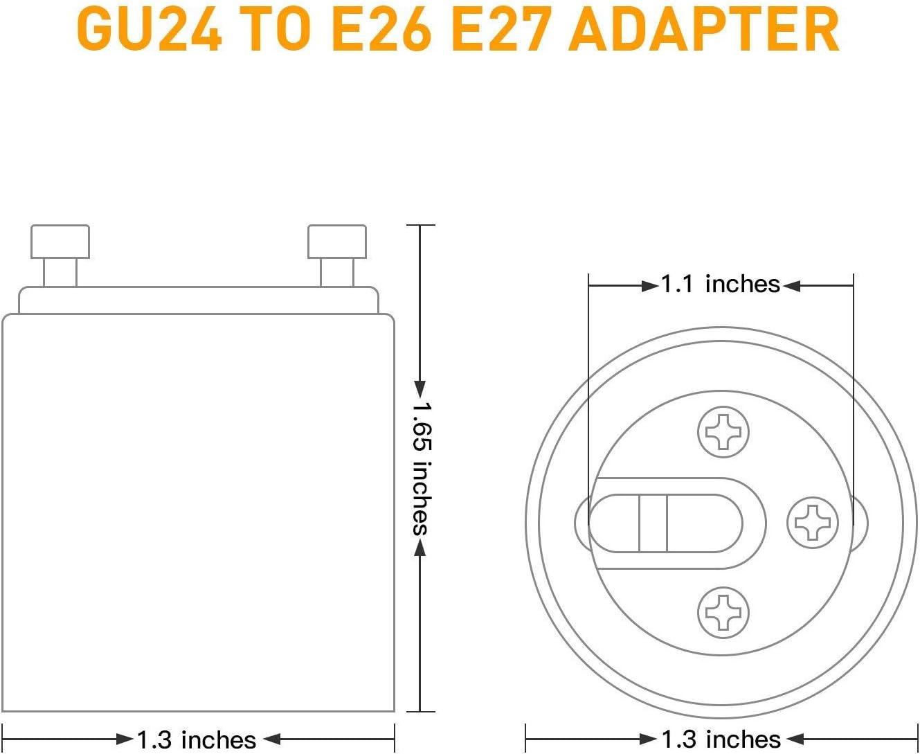 JACKYLED Gu24 Adapter 50-pack
