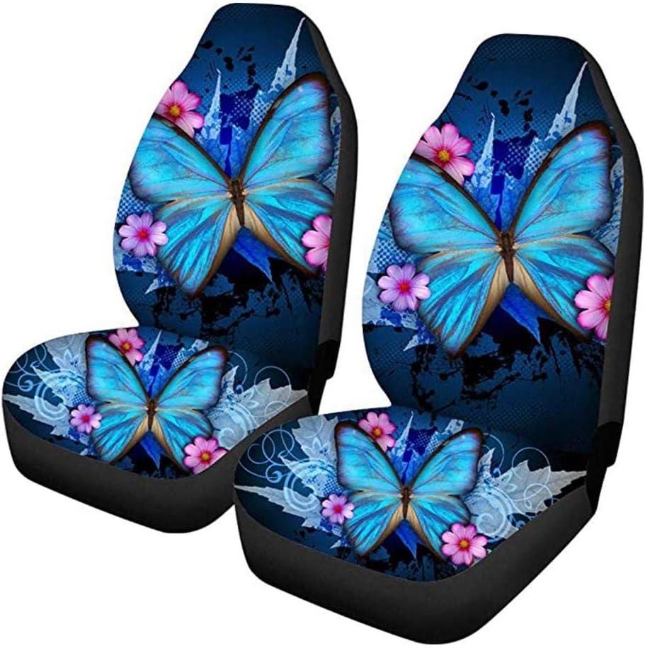 Coprisedili per auto Cuscino di protezione Stampa farfalla blu All-Inclusive Coprisedili anteriori Accessori per auto Four Seasons Universal
