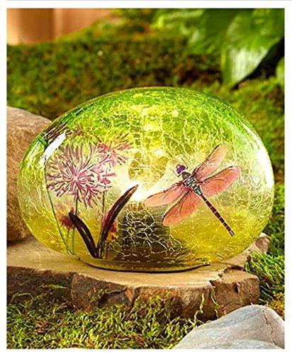 Solar Glass Garden Stone - Victoria Shops Gardens