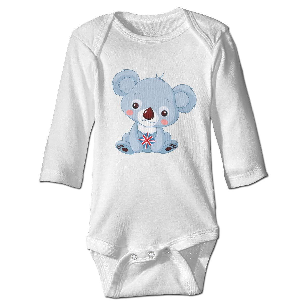 WBinHua Bodysuits Baby Bodysuit Baby Boys Bertha Cute Animal Australia Koala Bear Baby Toddler Long Sleeve Onesies Bodysuits