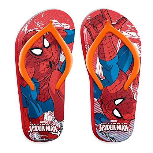 Spiderman Jungen Zehentrenner Rot / Orange