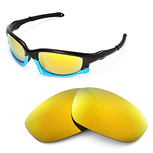 990fdb647c Walleva Replacement Lenses for Oakley Split Jacket Sunglasses - Multiple  Options Available (24K Gold Mirror
