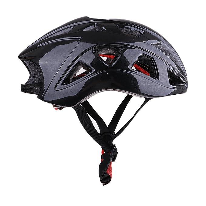 Homyl 1 Pc de Casco de Seguridad de Adultos para Ciclismo de Carretera y Montaña - Negro: Amazon.es: Deportes y aire libre