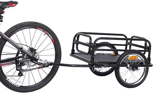 QWERTOUY Remolque de Bicicleta de Rueda Grande de 16 Pulgadas ...
