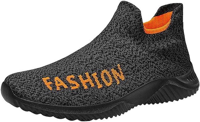 BaZhaHei Zapatillas de Mujer Calcetines de Malla para Parejas Zapatos Casuales sin Cordones Deportivas para Estudiantes Transpirables de Gran tamaño para Amantes para Correr livianos para Mujer: Amazon.es: Zapatos y complementos