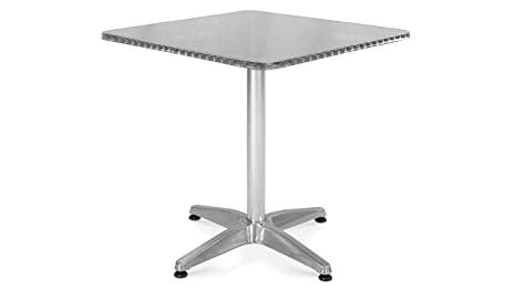 Oviala Table de Jardin Ronde en Aluminium 2 Places Mobilier ...