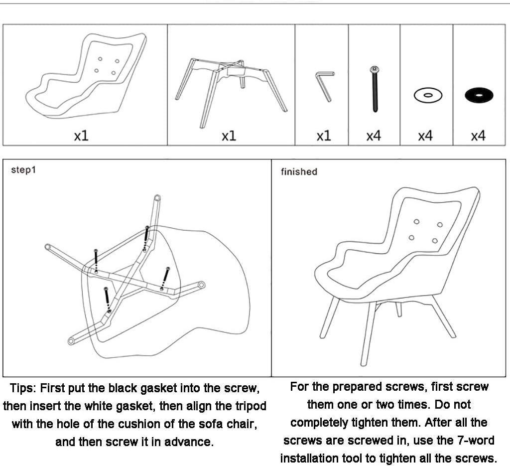 HCH chaise Siège éponge Confortable, canapé Paresseux Protable, avec Repose-Pieds Portable, canapé-lit Simple, pour Le Salon Salon C
