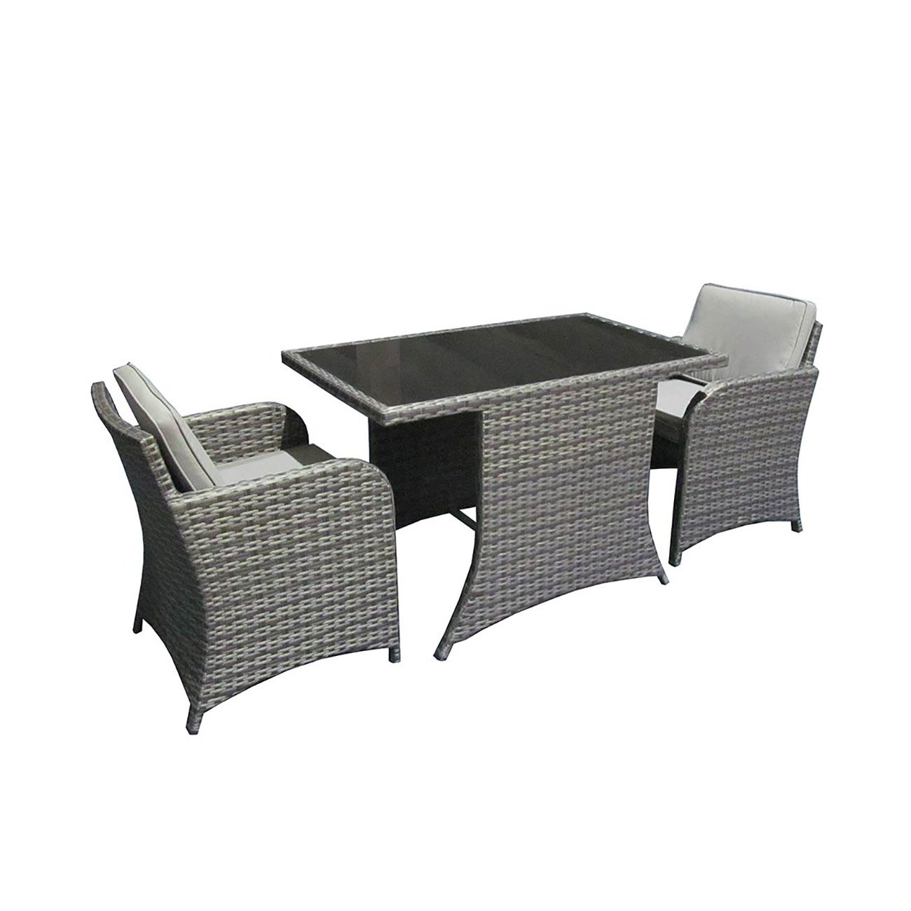 balkonm bel set rattan outliv helgoland balkonset 3 tlg polyrattan 2er sitzgruppe lounge set. Black Bedroom Furniture Sets. Home Design Ideas