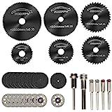 Cutting Wheels for Dremel Rotary Tool, Diamond Metal Wood Cutting Wheels and Drill Cutting Disc with 1/8