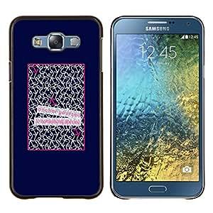 Eason Shop / Premium SLIM PC / Aliminium Casa Carcasa Funda Case Bandera Cover - Patter Cita Cartel del amor de texto - For Samsung Galaxy E7 E700