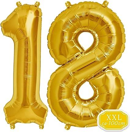Helium Folienballon Zahl 1 Geburtstag Geschenk Gold Hochzeit XL Zahlen Jubiläum