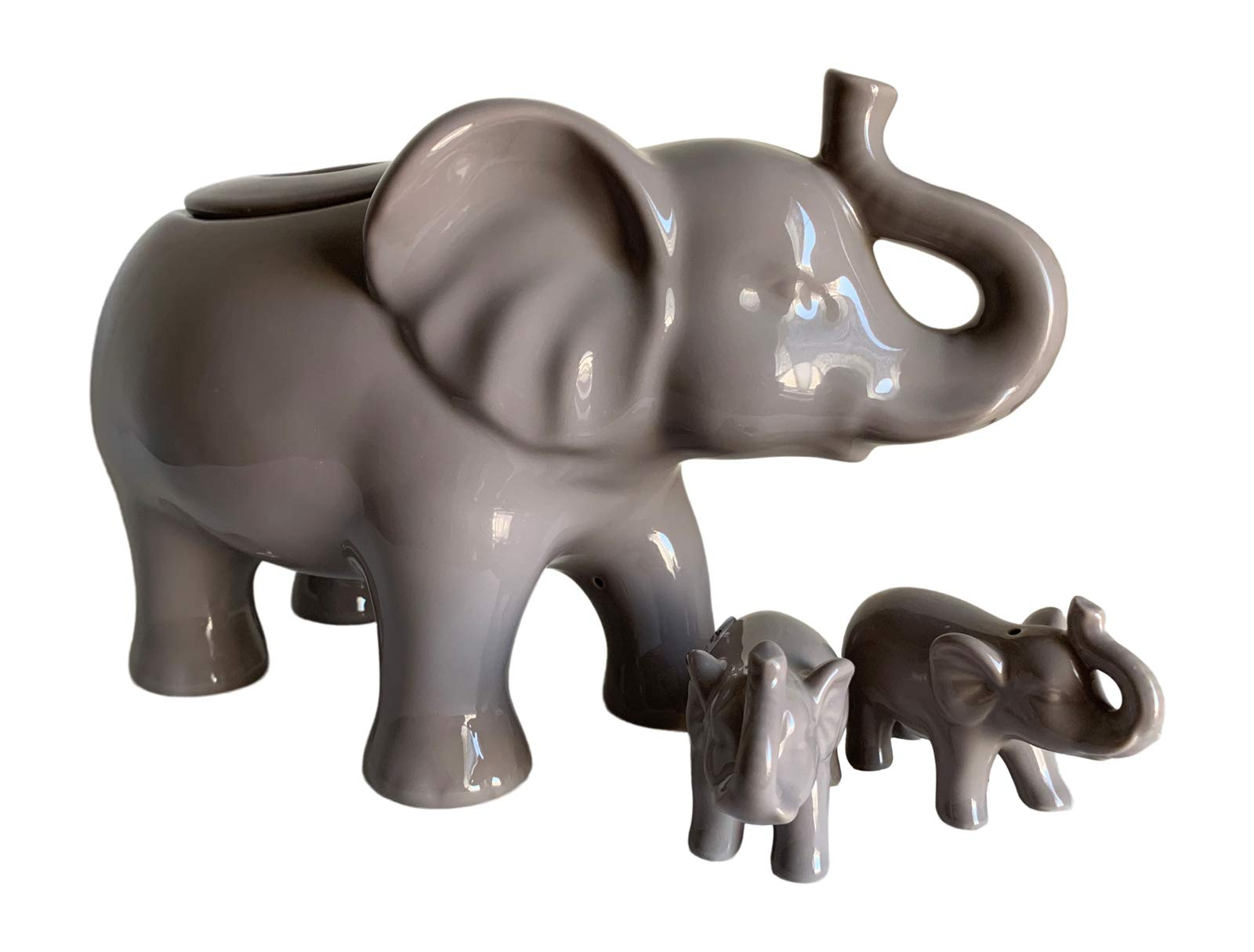 Elephant Cookie Jar and Salt and Pepper Shakers Gift Set by Generic