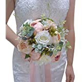 Wedding Romantic Bouquet Bride Bridal Bouquets Bridesmaid Bouquet Artificial Flowers Valentine's Day Confession Party…