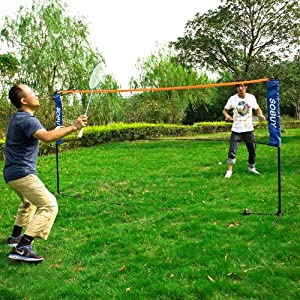 Haotian Height Adujstable Badminton Net , Tennis Volleyball Net with Stand / Frame by Haotian