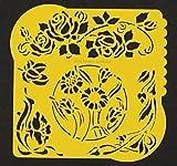 Flower Vines Pergamano Stencil