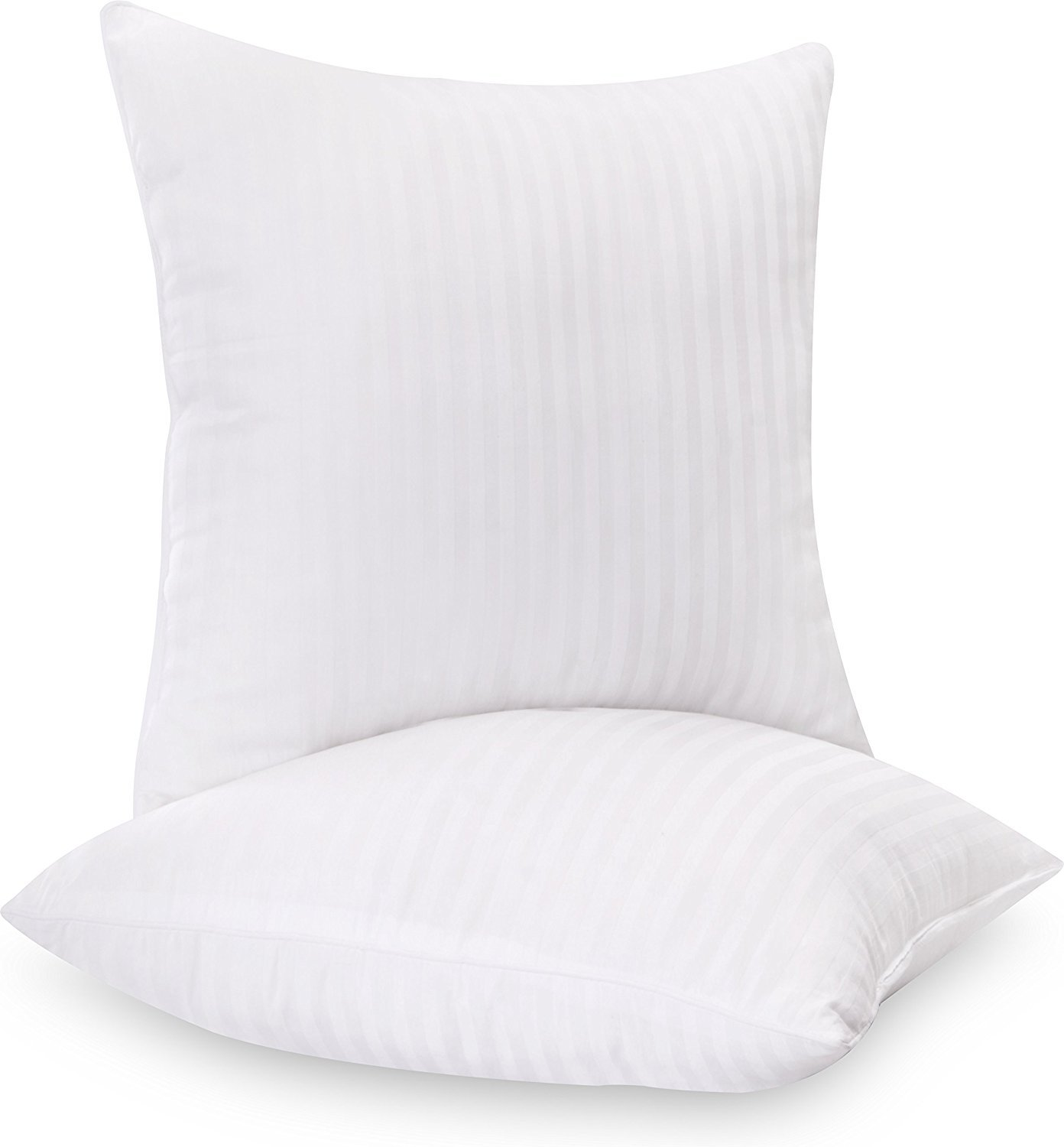 Utopia Bedding Decorative Pillow Insert (2 Pack) - Square 18 x 18 Sofa & Bed Pillow - Polyester Cotton Indoor White Pillows UB860