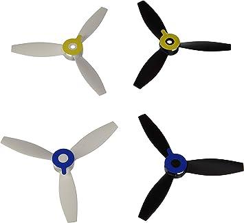 Parrot PF070221 - Hélices para dron Bebop 2, Color Blanco y Negro ...