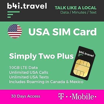 Usa Prepaid Sim Karte Von T Mobile 10 Amazon De Elektronik