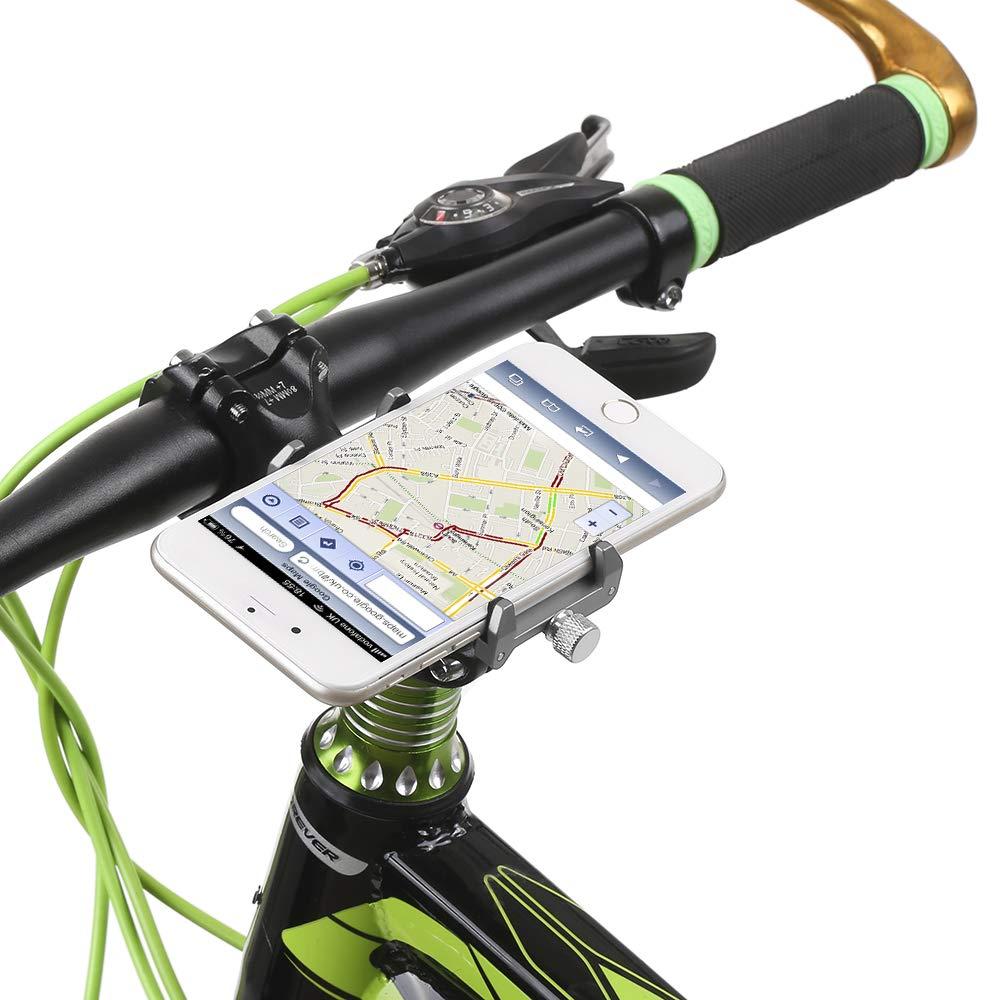 Lixada GUB Mountian Bike Tel/éfono Montar Universal Ajustable de Bicicletas de Tel/éfono Celular GPS Montar Soporte de Soporte Abrazadera de la Horquilla