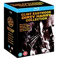 Clint Eastwood Dirty Harry Collection - 5 Movies: Dirty Harry + Magnum Force + The Enforcer + Sudden Impact + The Dead Pool (5-Disc Box Set) (Region Free + Slipcase Packaging + Fully Packaged Import)
