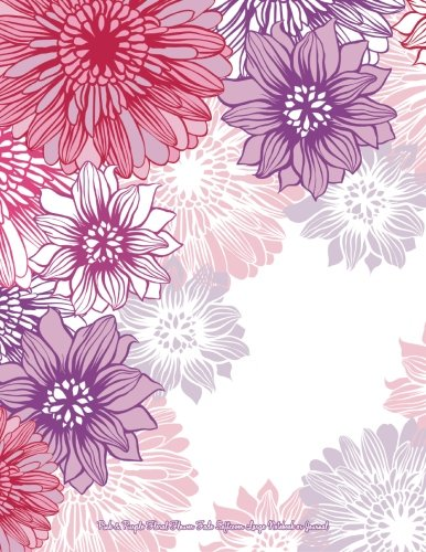 Pink & Purple Floral Flower Fade Softcover Large Notebook or Journal (Beautiful Journals, Diaries, & Notebooks) (Volume 17)