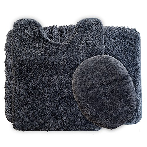Lavish Home 3-Piece Super Plush Non-Slip Bath Mat