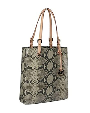 effeb7ec69b17b Amazon.com : Michael Kors Vertical Tote MacBook Natural Python Embossed :  Beauty