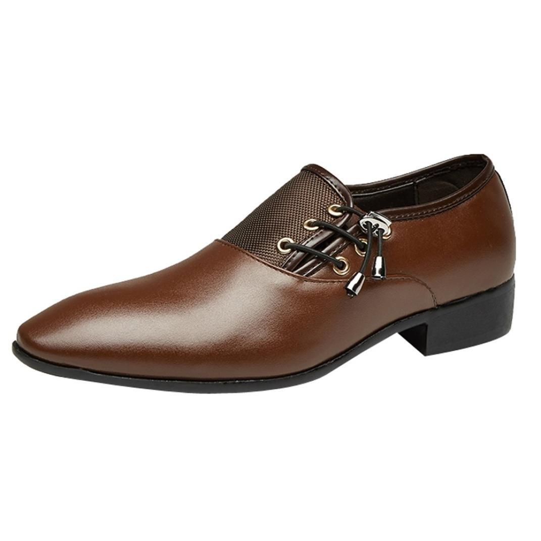 PLOT Lederschuhe Herren, Herren Business Schuhe Hochzeit Schnü rhalbschuhe Elegant Oxford Anzug Leder Derby Mä nner Lackleder Lederschuhe 37-46