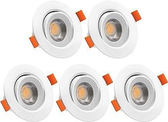 LED Einbau Strahler 5er Set Einbauspot Einbauset Stahl gebürstet Ø 4cm