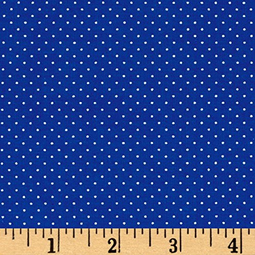 Fabric & Fabric 0541565 QT Sorbet Essentials Mini Dot Royal Fabric by The Yard ()