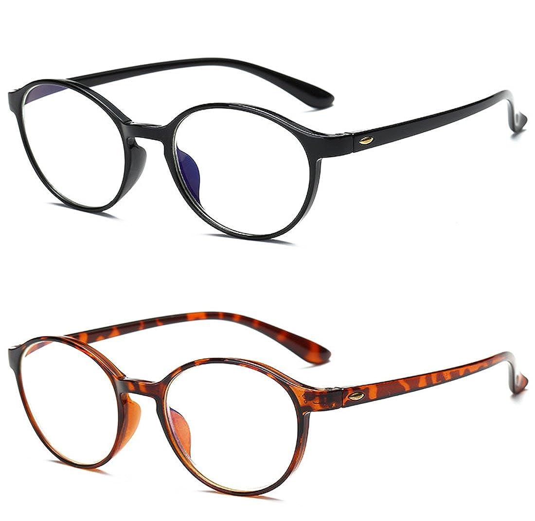 TALLA 3.5. VEVESMUNDO Gafas de Lectura Mujer Hombre Bloqueo Luz Azul Presbicia Antireflejos Grandes Flexible Redondas Retro Calidad Para Ordenador Leer Trabajo Vista Graduadas