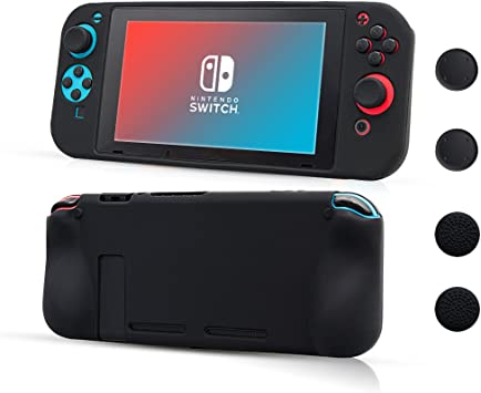 CHIN FAI Nintendo Switch Funda Protectora de Silicona, Suave ...