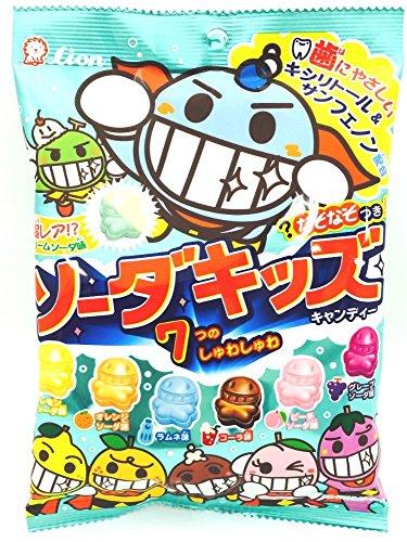 LION Soda Kids Kiechau Kawaii Little Human-Shape Fruit Soda ()