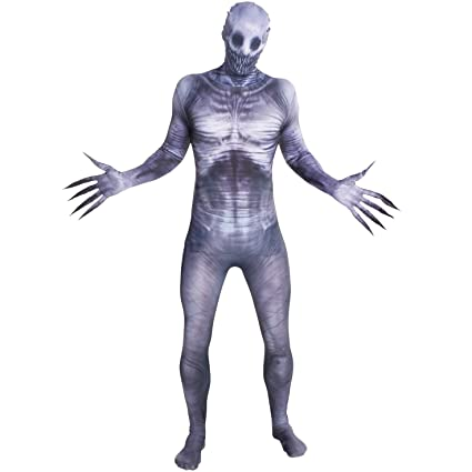 Morphsuits Slender Man Disfraz – Tamaño Mediano – 5