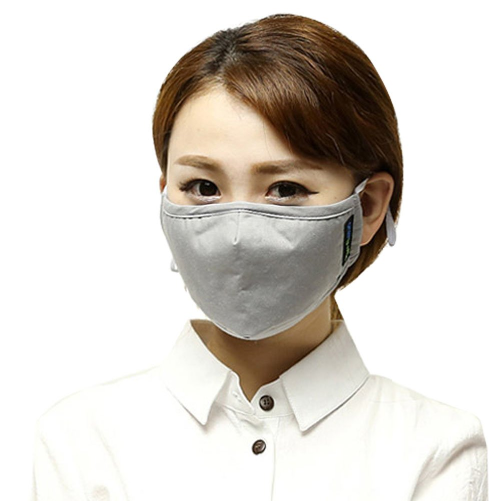 Yeeco Anti Dust Face Mouth Cover Mask Respirator, Man Woman Comfort Anti Pollen Dust Actived Carbon Filtering Reusable Face Mouth Masks with Adjustable Earloop (Grey)