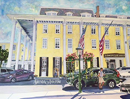 Congress Hall in Cape May NJ - Fine Art Wall Art Artwork Watercolor - May Victorian Cape