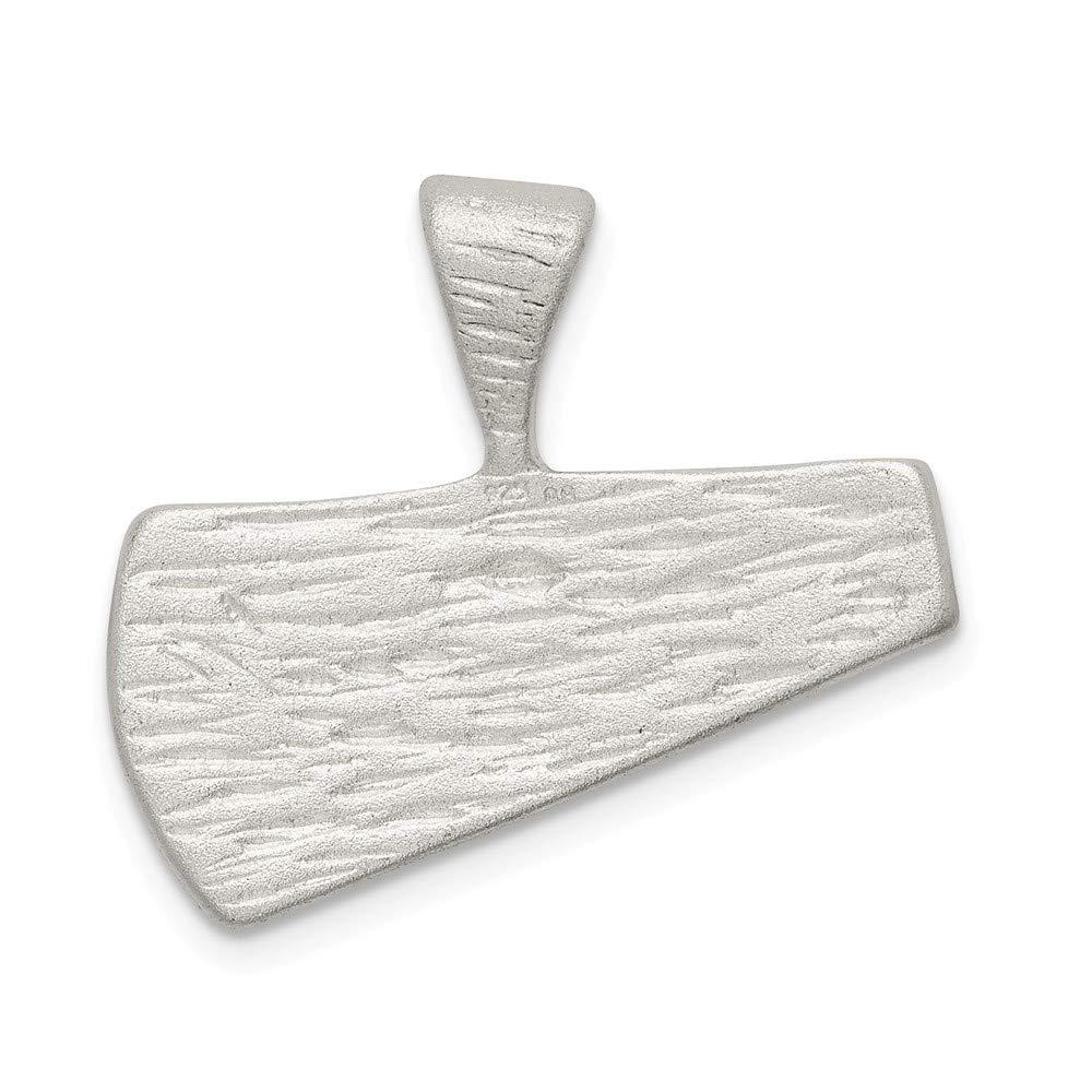 925 Sterling Silver Satin Finish Diamond-cut Megaphone Charm Pendant