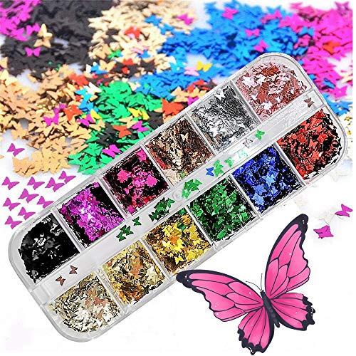 Butterfly Glitter Nail Sequins3D
