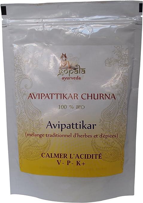 Avipattikar en polvo, Mezcla de plantas ayurveda para calmar la acidez, Para el estreñimiento