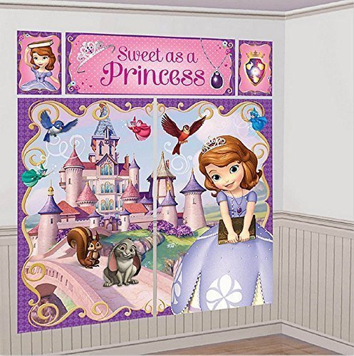 Disney Sofia the First Scene Setters Wall Banner Decorating Kit Birthday Party Supplies]()