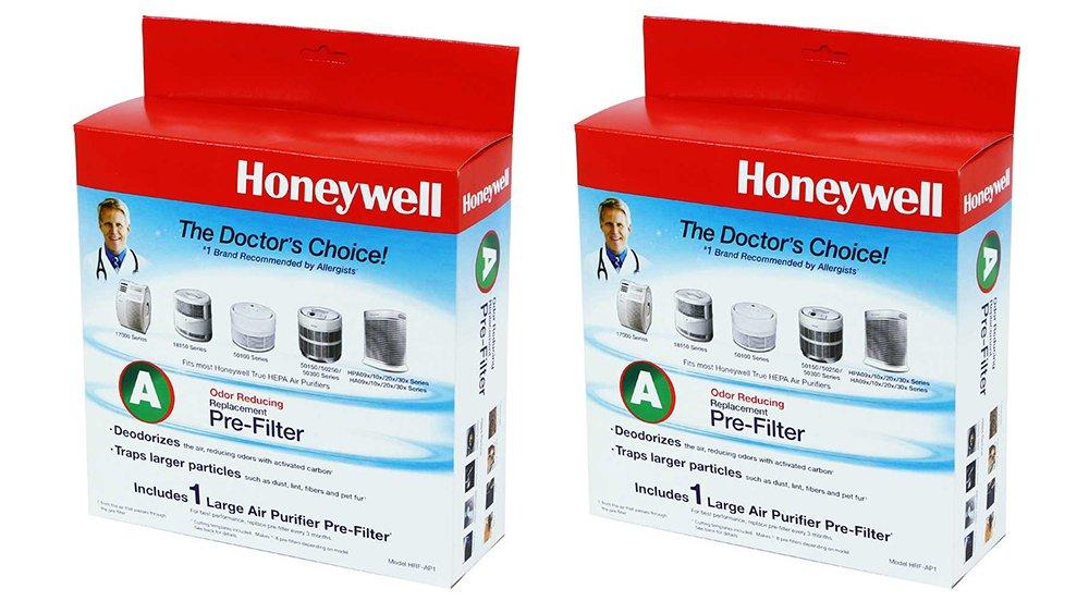 Honeywell HRF-AP1 Universal Carbon LTuJb Pre-filter, Filter A (2 Pack)