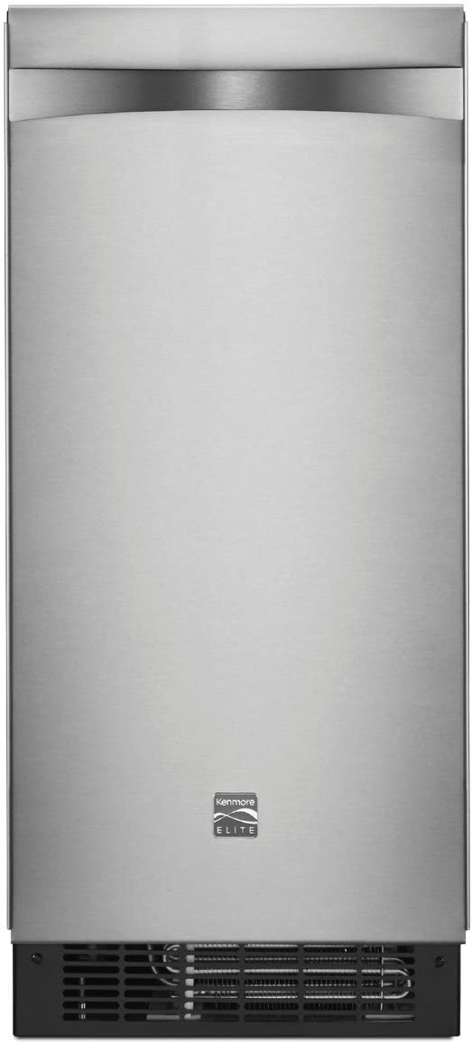 "Kenmore 89593 15"" Ice Maker with Drain Pump, Stainless Steel"