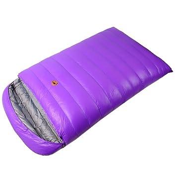 SAMCAMEL - Saco de dormir para acampadas y excursiones, ultraligero, de plumas de pato