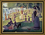 "This 20"" x 26"" framed giclee art print on canvas of Apres-midi a l le de La Grande Jatte by Georges Seurat is meticulously created on artist grade canvas utilizing ultra-precision print technology and fade-resistant archival inks. Every detail of the..."