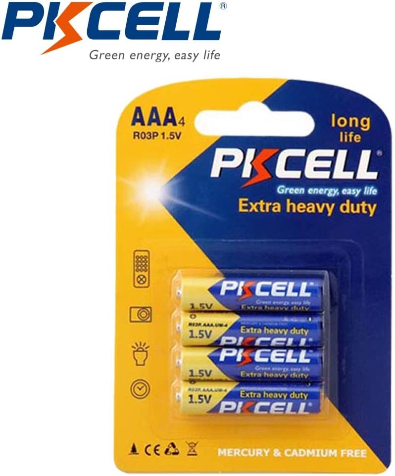 Thermometers Replaced Battery AAA Cell 1.5V Carbon Zinc Batteries r03p um4