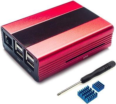 B+ Aluminum Alloy Case Cover Metal Enclosure For Raspberry Pi 3 Model B Pi 2 B