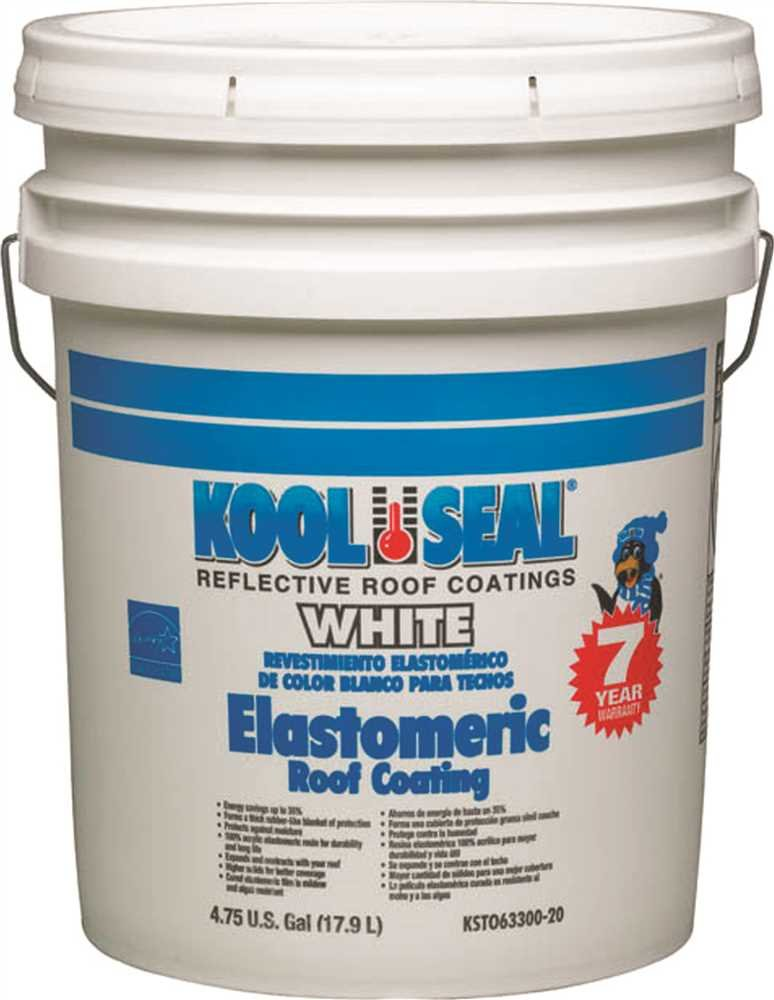 Kool Seal Elastomeric Roof Coating, White, 5 Gallon